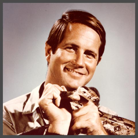 Jim Fowler with a Snake